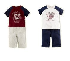 NWT Ralph Lauren Baby Boys Polo Graphic Short Sleeves Shirt & Fleece Pants Set  #RalphLauren #DressyEveryday