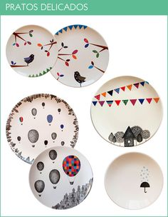 lovely colorful plates