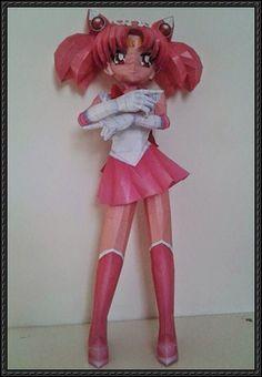 Chibi Sailor Moon (Mini Bunny) Free Figure Papercraft Download
