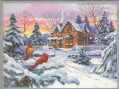 """DIMENSIONS THE GOLD COLLECTION """"WINTER MEMORIES"""" COUNTED CROSS STITCH KIT #Dimensions #Picture"""
