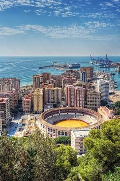 Malaga Bullring, Spain | (10 Beautiful Photos) was exactly on this mountain looking at this exact view.. Crazyy!