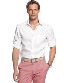 MADE Cam Newton Short Sleeve Pink Dobby Woven Shirt