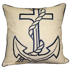 Evoke classic seaside style with the charming maritime Pillow from the Elizabeth Bauer event on #jossandmain