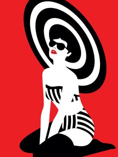 Graphic swimsuit, 2 color graphicgenius nel 2019 art, pop art e retro illus Art And Illustration, Illustrations Posters, Portrait Illustration, Fashion Illustrations, Arte Pop, Kunst Poster, Grafik Design, Art Design, Oeuvre D'art