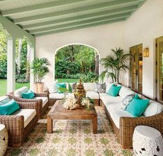 Covered patio and tiles. Ideas for outside my Spanish home.