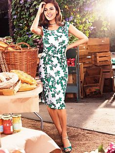Gorgeous -- Eva Mendes Collection - Drape Dress - Ivy Print - New York & Company