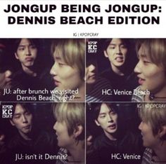Jongup being Jongup LOL cant believe BAP was an hour away from me at Venice Beach ㅠㅠ