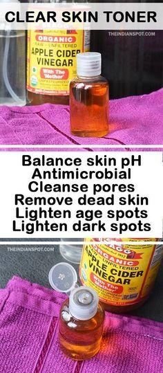 Homemade Natural Clear Skin Facial Toner | THEINDIANSPOT