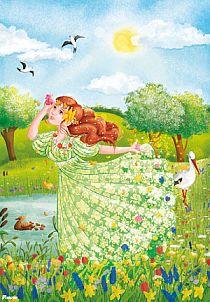 Tree Of Life Art, Spring Fairy, Good Morning Flowers, Fairy Princesses, Butterfly Art, Cartoon Pics, Spring Crafts, Preschool Crafts, Four Seasons