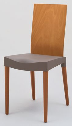 """Philippe Starck. Miss Trip Chair. 1996. Kartell S.p.A., Milan, Italy. Polypropylene, laminated back, and solid beechwood legs. 34 1/4 x 15 3/4 x 19 3/4"""" (87 x 40 x 50.2 cm). David Whitney Collection, Gift of David Whitney. 59.2000. Architecture and Design"""