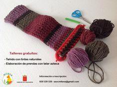 Taller de tintes naturales y elaboración de prendas con telar azteca