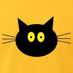 Cat men's tee AA - flock print - choose color | Klarert.no's USA webshop
