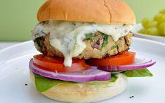 Veggie Bean Burger, Vegan Yogurt, Vegan Food, Tzatziki Sauce, Vegan Burgers, Bean Recipes, Meatless Recipes, White Beans, Vegan Dishes