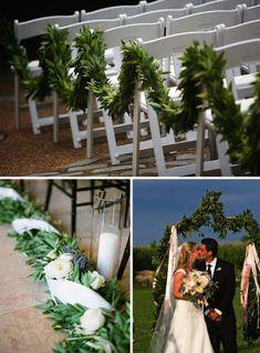 10 Creative Ways to Line the Wedding Ceremony Aisle | OneWed