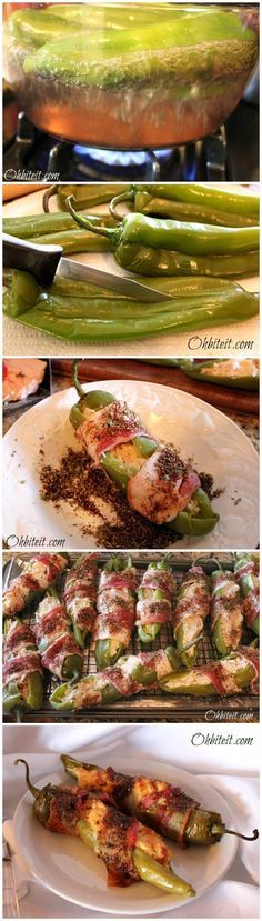 Bacon Wrapped Stuffed Chiles