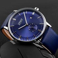 Men's Business Style Second Dial Leather Band Quartz Wristwatch (Assorted Colors) – EUR € 14.69