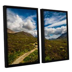 ArtWall Steve Ainsworth's 'Heart Of The Mountains' 2-piece Floater Framed Set