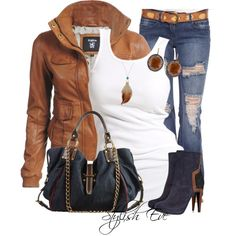 Summer is over, but that does not mean that chic style has gone along with it. Visit our Stylish Eve 2013 Fall Outfits Collection for great ideas this fall. Stylish Eve Outfits, Fall Outfits, Casual Outfits, Casual Wear, Denim Outfits, Summer Outfits, Look Fashion, Fashion Outfits, Womens Fashion