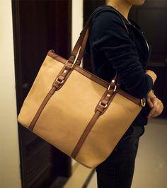Simple Color Block and Rivets Design Women's Shoulder Bag, BLUE in Shoulder Bags