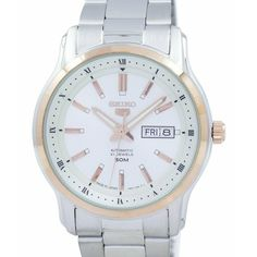 Stainless Steel Bracelet, Stainless Steel Case, Seiko 5 Automatic Watch, Mens Watch Brands, Seiko Watches, Chronograph, Watches For Men, Japan, Stainless Steel Mailbox