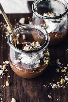 dessert dukkah + raw chocOlate pudding & whipped coconut cream