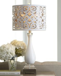 scroll-shade table lamp  make DIY with decoupage paper