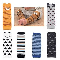 Baby Toddler Cozy Soft Cotton Leg Warmers Boys Girls Kneepads Knee Warmers Pack of 6 In stock - $16.99