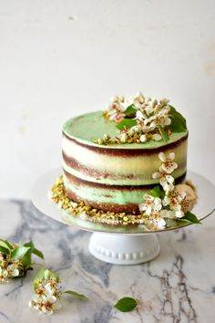 Pistachio Lime Cake with Vanilla Buttercream