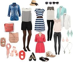 I love Paris in the Summer...what to wear! Plus everything here links to Polyvore. So easy.