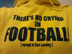 U of M football...have this on the pocket of the best sweatshirt ever!