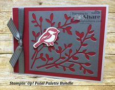 A Stampin\' Up! Petal Palette Bundle card made using scraps. Created by Kay Kalthoff at #stampingtoshare Includes How To Video