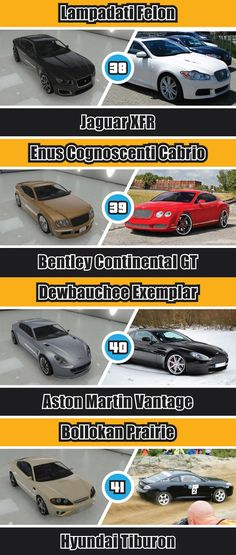 This is some of gta everyday cars you will see in the game while playing. The cars here are barley fast. Gta Cars, Cars Auto, Grand Theft Auto 4, N Game, Playstation, High End Cars, Good Pranks, Gta 5 Online, Bentley Continental Gt