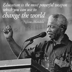 Nelson Mandela #mandela #nelsonmandela #education
