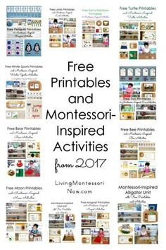 Free printables and Montessori-inspired activities from 2017 along with more than 7 years' worth of free printables and activities for preschoolers through early elementary - Living Montessori Now #Montessori #homeschool #preschool #kindergarten