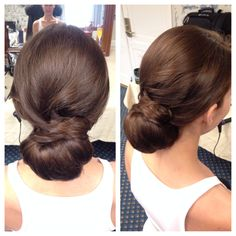 Bride hair updo chignon bun by www.jillain.com