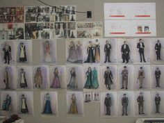Costume art and designs for the #clevelandplayhouse production of The Little Foxes during the 2014-2015 season. #design #theatre #costume #art