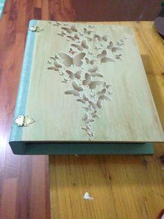 Ahşap boyama kitap kutu Wood painting