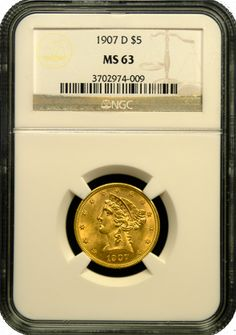 $5 Liberty Gold Coin NGC/PCGS MS-63 - In Holder