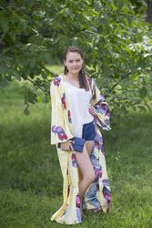"""Boho-Chic"" Kimono jacket in Butterfly Baby pattern"