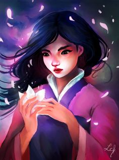 Mulan and her Lotus Flower by Ludmila-Cera-Foce.deviantart.com on @DeviantArt