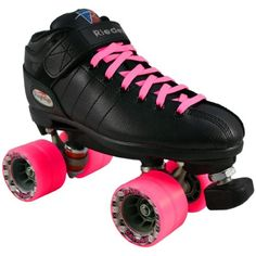 Riedell R3 Black Pink Speed Skates - R3 Pink Speed Roller Derby Skate Riedell.  New to roller derby?  This is a great skate for beginners.