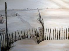 """""""Dune de Pyla"""" 80 cm x 60 cm Acrylic sur toile SOLD"""