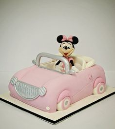 Minnie Mouse Car Cake  Cake by Chocswirl