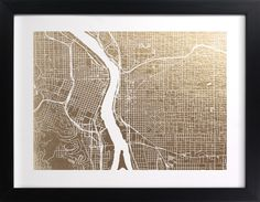 Interesting art project idea - working with maps (Portland, Paris?) to turn it into a work of art.