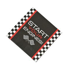 Race+Car+Checkered+Flag+Luncheon+Napkins+-+OrientalTrading.com