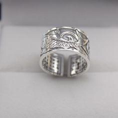 38174dbae677b7 New Pure Fine Sterling 925 Silver Ring Unisex Unique Fist Open Ring US 6-10