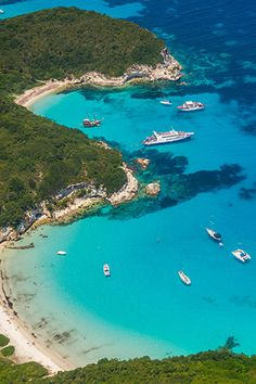 Voutoumi Beach on the island of Paxos ( Paxi ) Greek Islands Vacation, Destinations, Europe, Greece Travel, Lonely Planet, Travel Guides, The Good Place, River, World