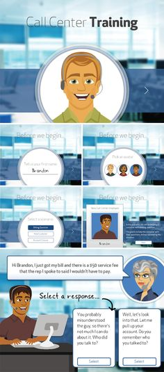 Call Center Training Demo with E-Learning Personalization. TimSlade.com #ELHChallenge #elearning #Articulate #Storyline