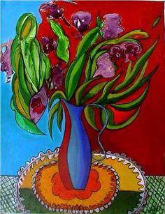 Bodegón con lilas