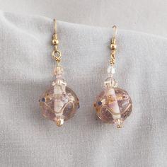 Pink Glass Ball Earrings   SER19